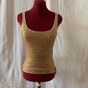 Gold Sequin Tank Top
